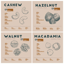 Nutrition Fact Of Nut. Cashew,...