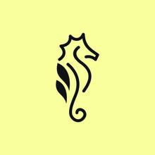 Seahorse Logo Design Template....