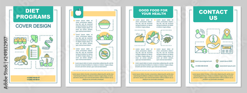 Fotografía  Healthy nutrition brochure template layout