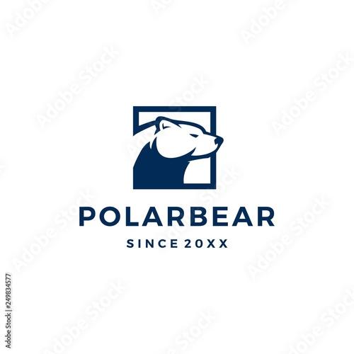 Fotografía polar bear logo vector icon illustration