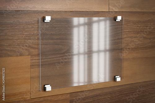 Fotografie, Obraz  Mock up of a plate glass sign