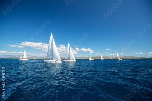 Valokuva Sailing yachts regatta competition