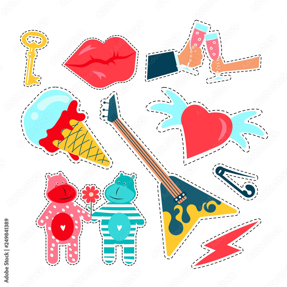 Photo & Art Print Trendy Patches Badges, Stickers And Pins