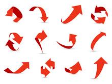 Red Arrows 3d Set. Financial A...