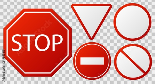 Traffic stop signs Canvas Print