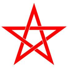 Pentagram Or Pentalpha Or Pent...