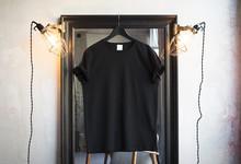 Mockup Of A Black T-shirt