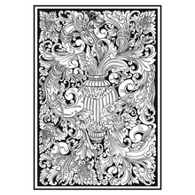 Carved Openwork Pattern. Indonesia Motif. Pattern Suitable For Laser Cutting, Plotter Cutting Or Printing - Vector - Vector