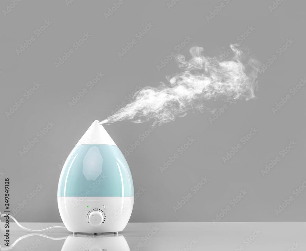 Fototapeta White-blue air humidifier.