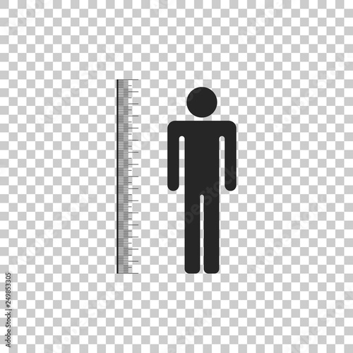 Fotografía  Measuring height body icon isolated on transparent background