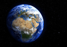 The Earth From Space Showing E...