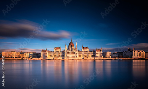 Photo The Hungarian Parliament in sunset
