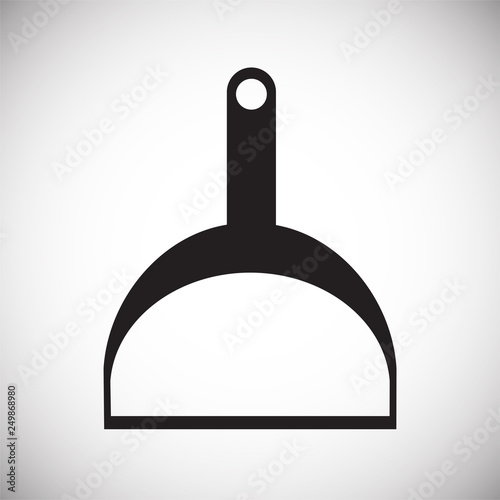 Fotografía  Cleaning scoop icon on white background for graphic and web design, Modern simple vector sign