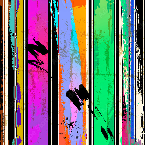 abstract background composition with paint strokes, splashes and lines