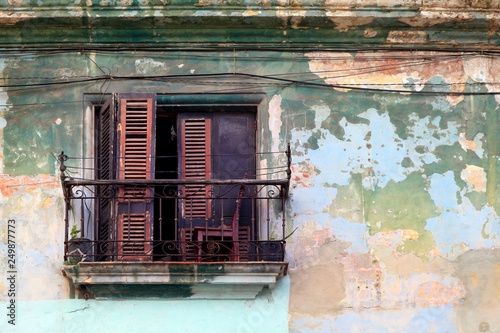 Balcony in Havana, Cuba Wallpaper Mural