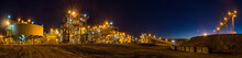 Night View Of A Copper Mine He...