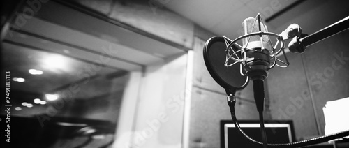 Studio microphone or mic for recording for vocal singer or commercial announcer Wallpaper Mural