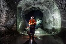 Miner Underground At A Copper ...