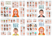 Woman, Man, Girl, Boy Characte...