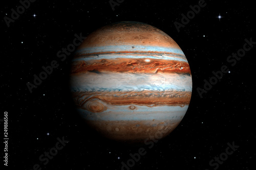 Keuken foto achterwand Nasa 3d rendering of Jupiter Planet. Surface texture furnished by NASA.