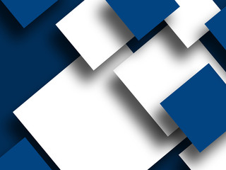 Abstract Squares design blue background