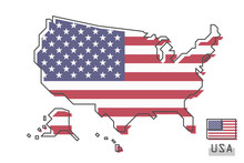 United States Of America Map A...