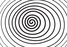 Hand Drawing Spiral Shape