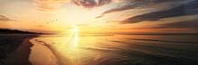 Sonnenuntergang Am Meer, Ostsee