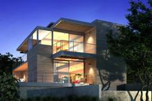 3d Render Modern Building Exte...