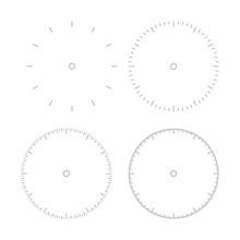 Clock Dial. Round Speed Dial Set