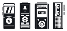 Dictaphone Recorder Icons Set....