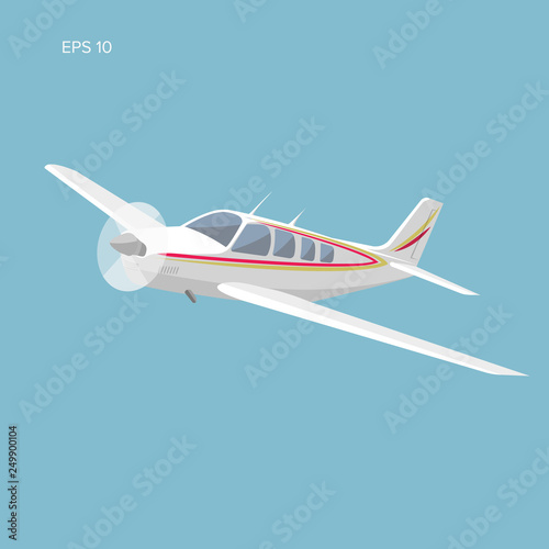 Photo  Small plane vector illustration