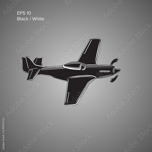 Legendary WWII american fighter aircraft  Single piston