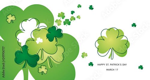 Carta da parati  Saint Patricks Day clovers green line design landscape background