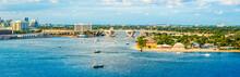 Panoramic View Of Port Everglades, Ft Lauderdale, Florida.
