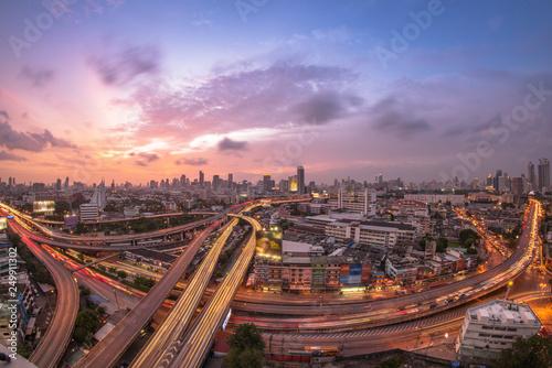 Poster Bangkok Bangkok City Expressway at TwiLight