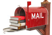 Mailbox With Books. 3D Rendering