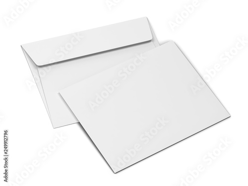 Fotomural Blank paper envelope mockup