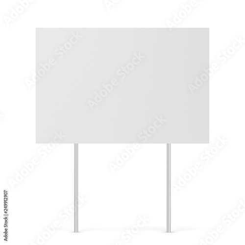 Obraz Blank yard sign - fototapety do salonu