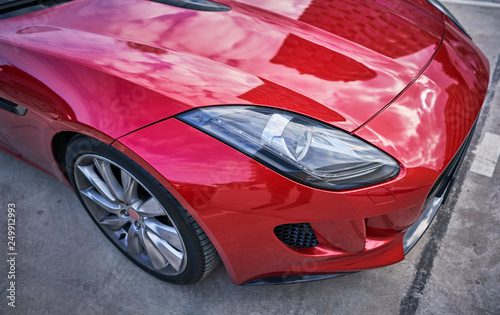 Photo  red sports car