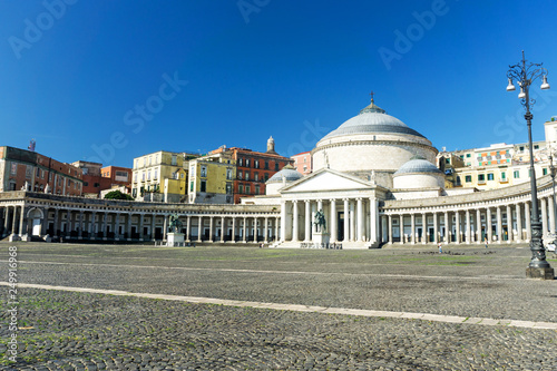 Piazza del Plebiscito in Naples Tablou Canvas