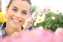 Spring Concept, Smiling Woman ...