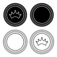 Checkers Board Game Pieces Vector Illustration Icon Symbol Graphic