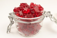 Star Shaped Gummy Candy With Mulled Wine Flavor In A Glass Jar