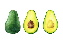 Whole And Cut In Half Of Avoca...