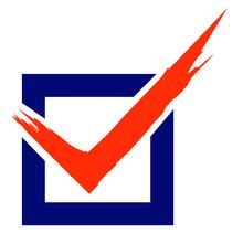 Voting Check Mark Box Vector Illustration Icon Symbol Graphic
