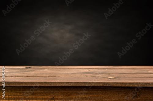 Obraz na plátně  Empty wooden table background
