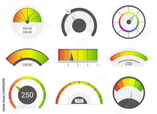 Fotografía  Speedometer icons