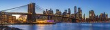 Fototapeta Nowy Jork - Sunset at Dumbo Brooklyn Bridge Park.