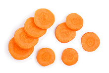 Carrot Slice Isolated On White...